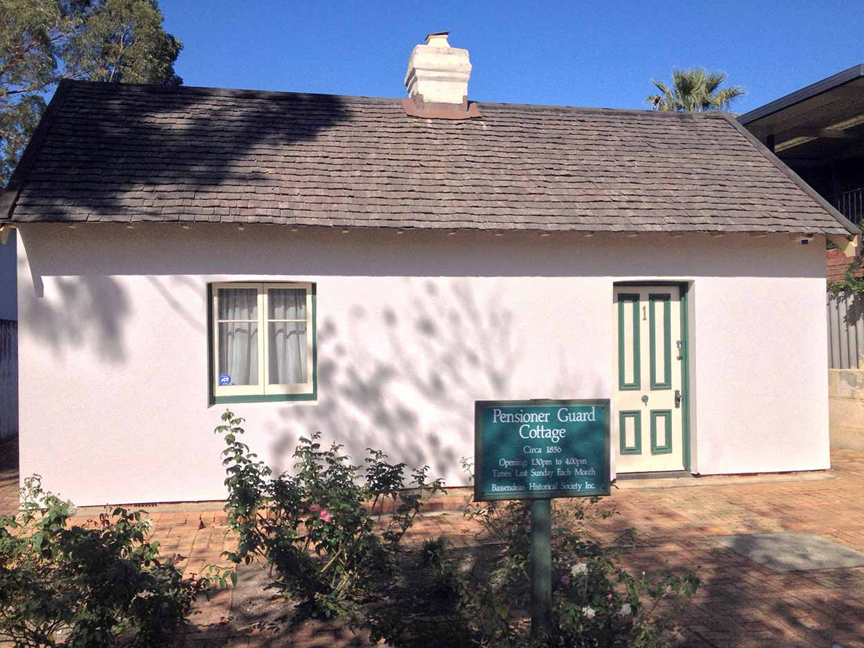 The Pensioner Guard Cottage at 1 Surrey Street, Bassendean, Perth, Western Australia