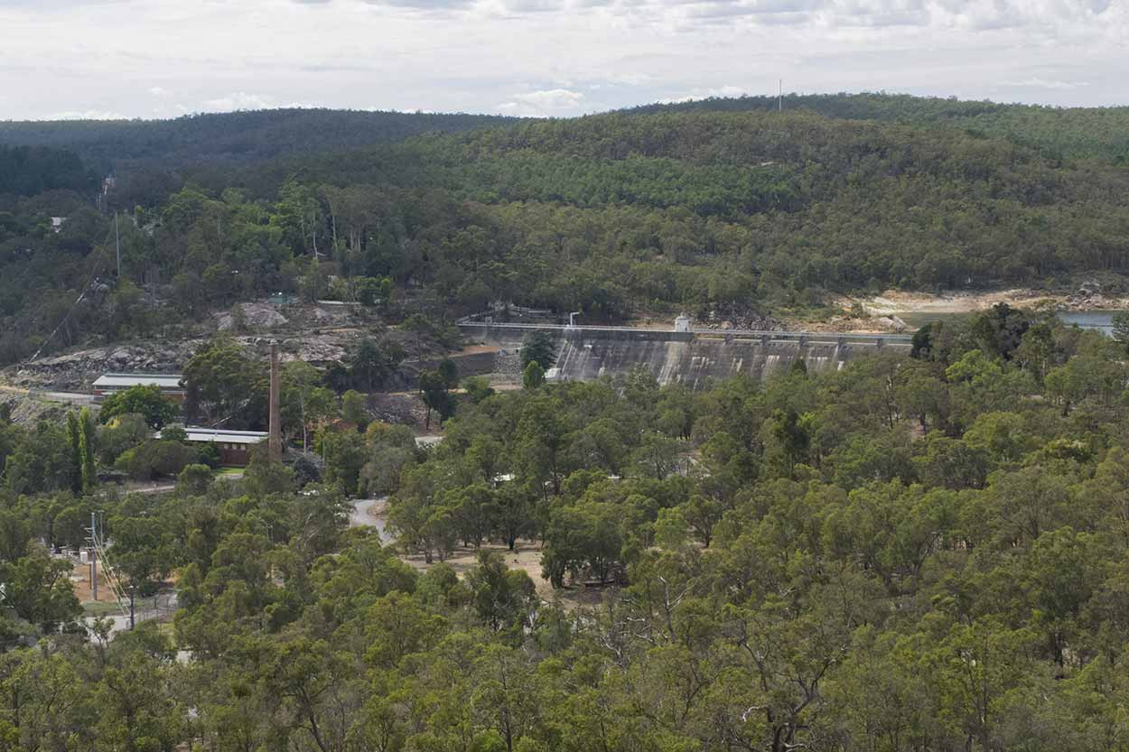 Views to Mundaring Weir from the South Ledge Lookout, Perth, Western Australia