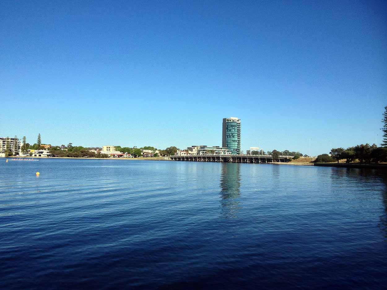 The Canning Bridge over the Canning River, Perth, Western Australia
