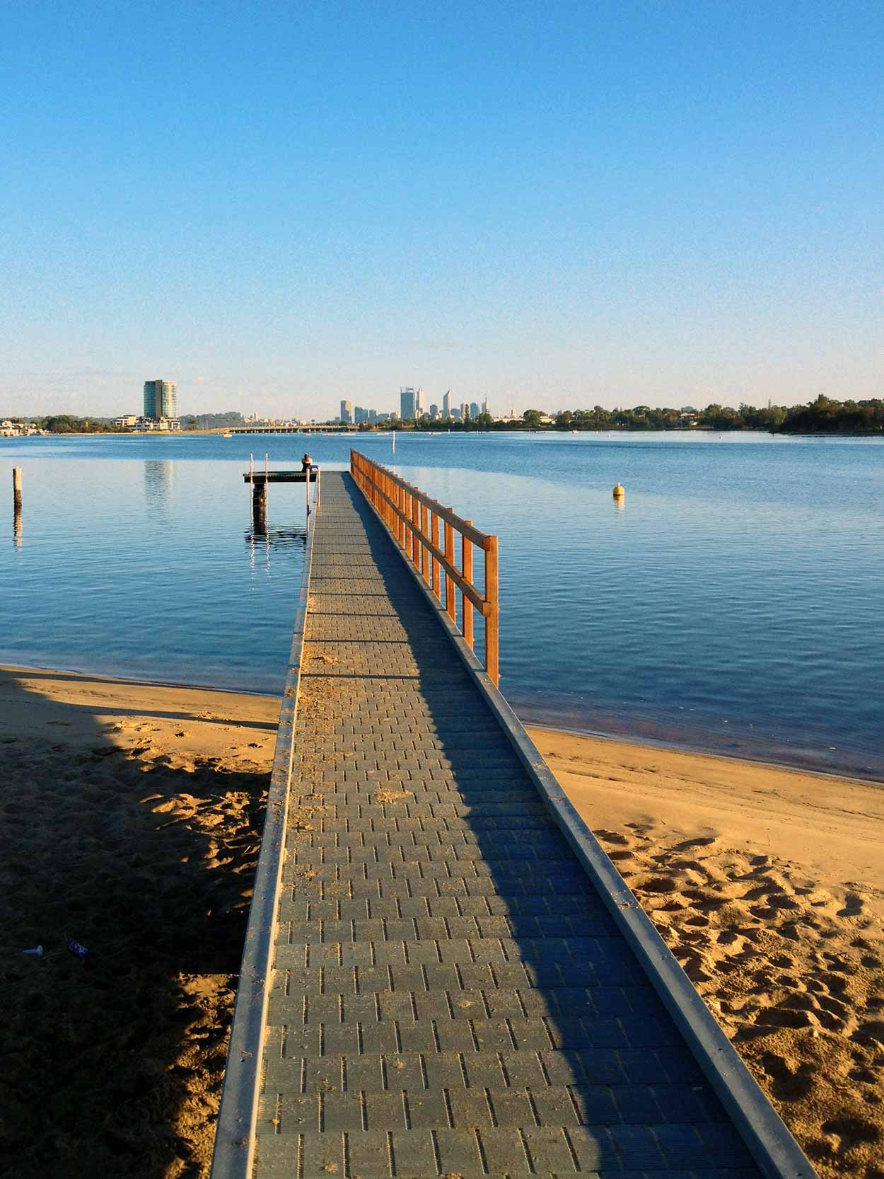 Looking north up the Canning River from Deep Water Point, Perth, Western Australia