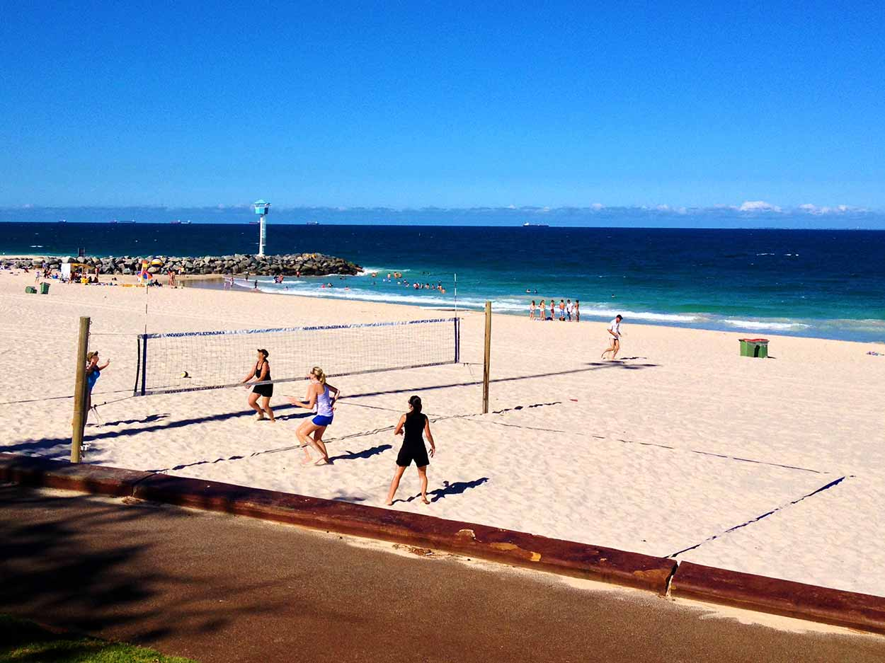 Activities at City Beach, Perth, Western Australia