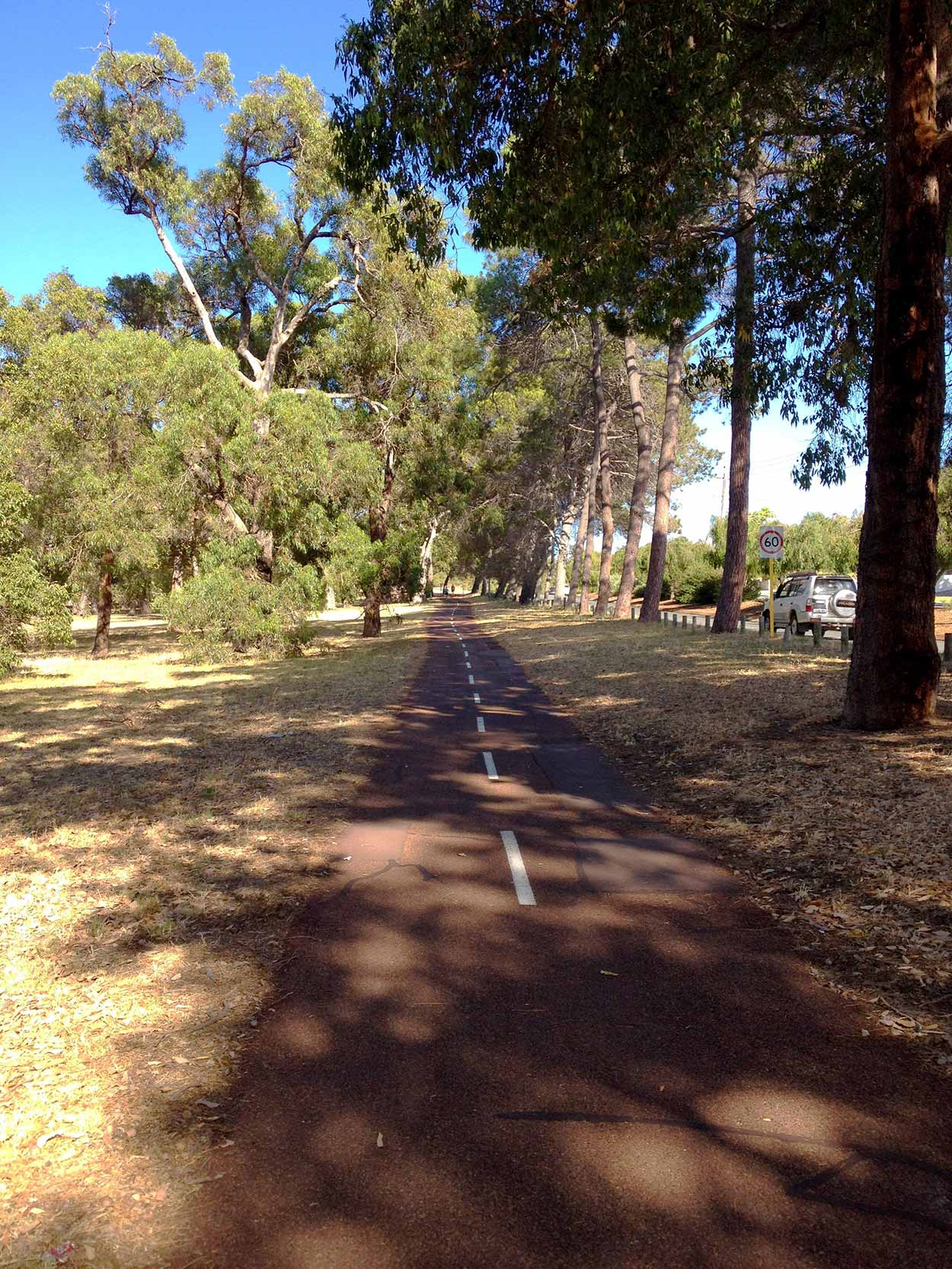 Walking along the City to the Sea path between Bold Park and Oceanic Drive, Perth, Western Australia