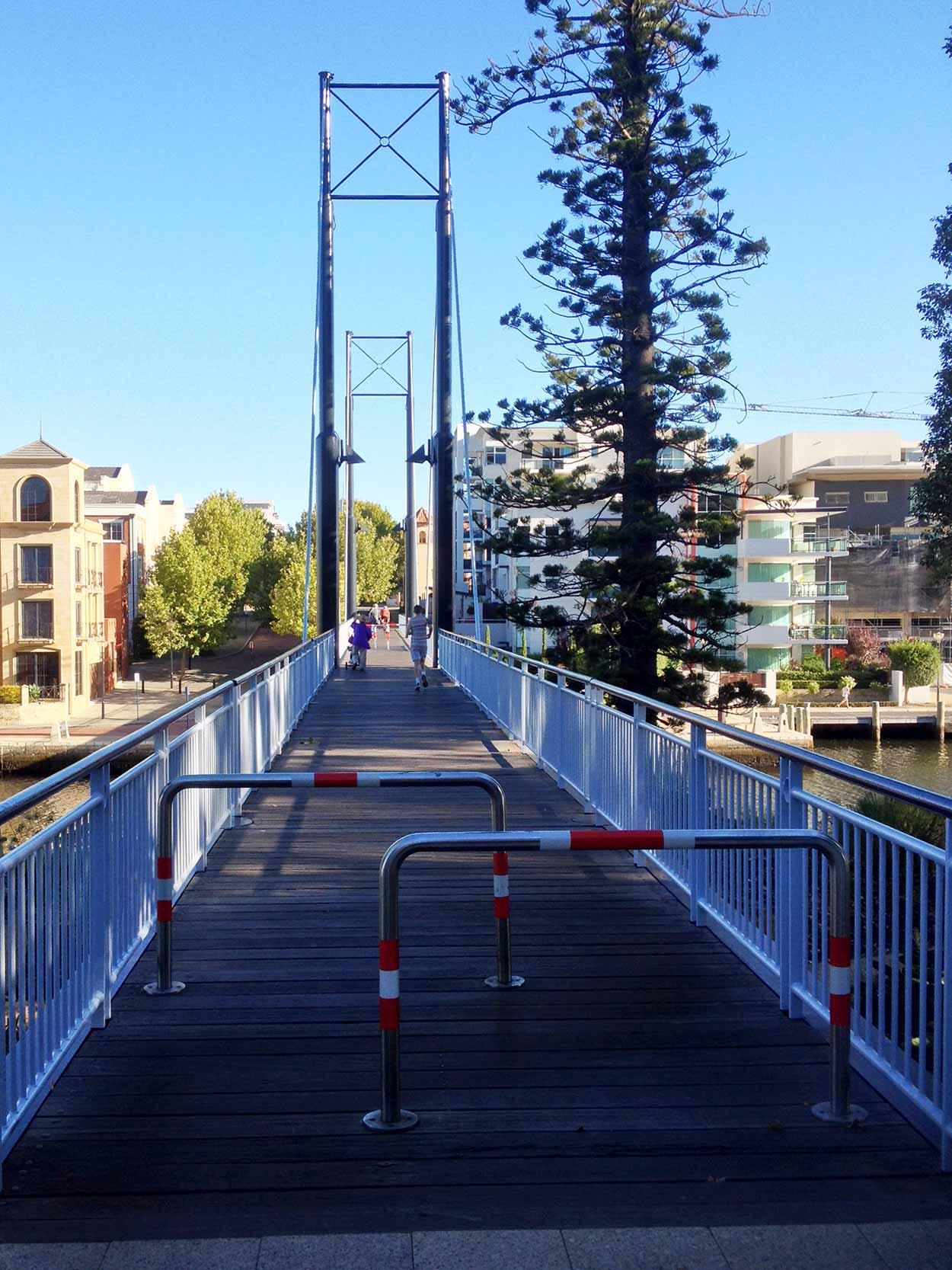 Trafalger Bridge over Claisebrook Cove, Perth, Western Australia