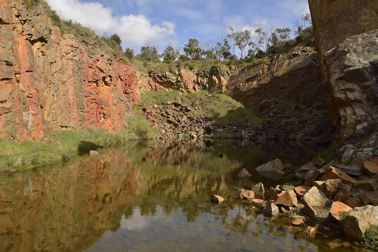 Old Barrington Quarry, Ellis Brook Valley Reserve, Perth, Western Australia