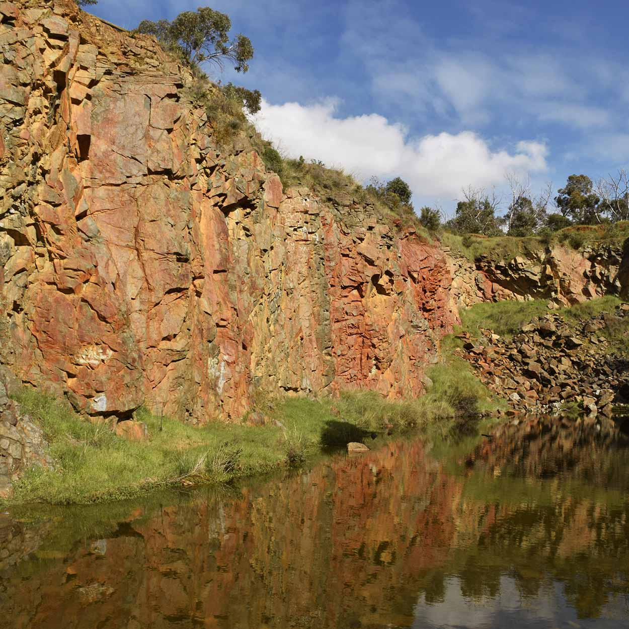The Old Barrington Quarry, Ellis Brook Valley Reserve, Perth, Western Australia