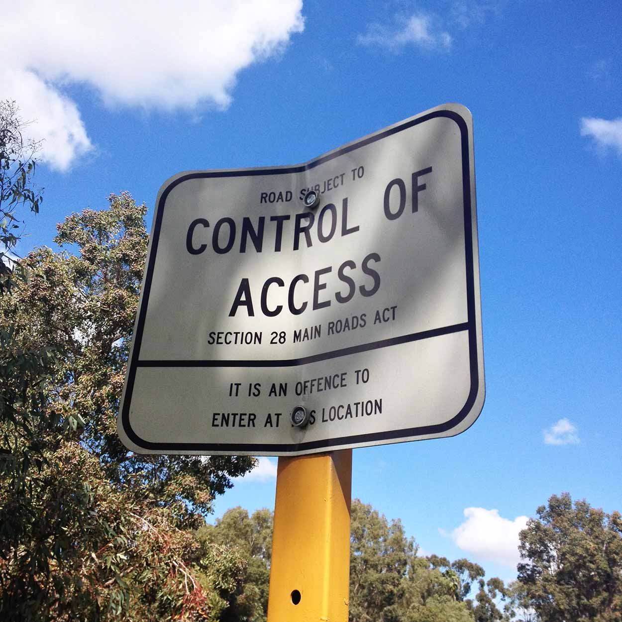 Sign on the Tonkin Highway, Martin, Perth, Western Australia