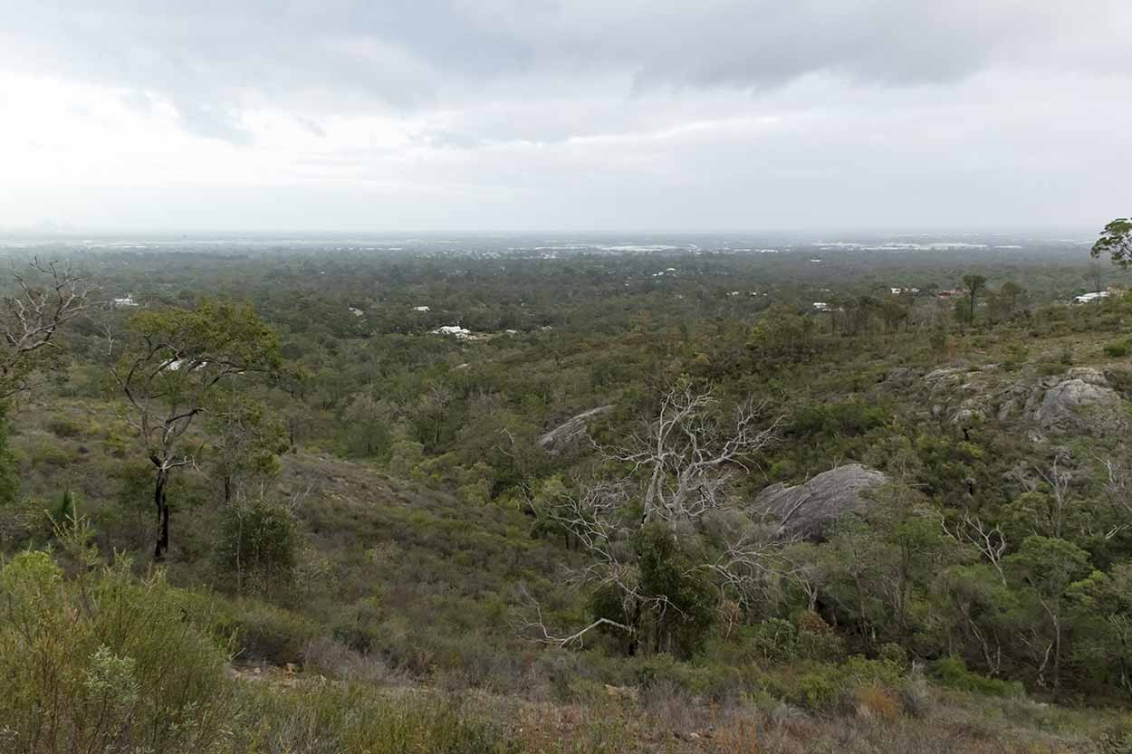 Views over the Swan Coastal Plain, Gooseberry Hill, Perth, Western Australia