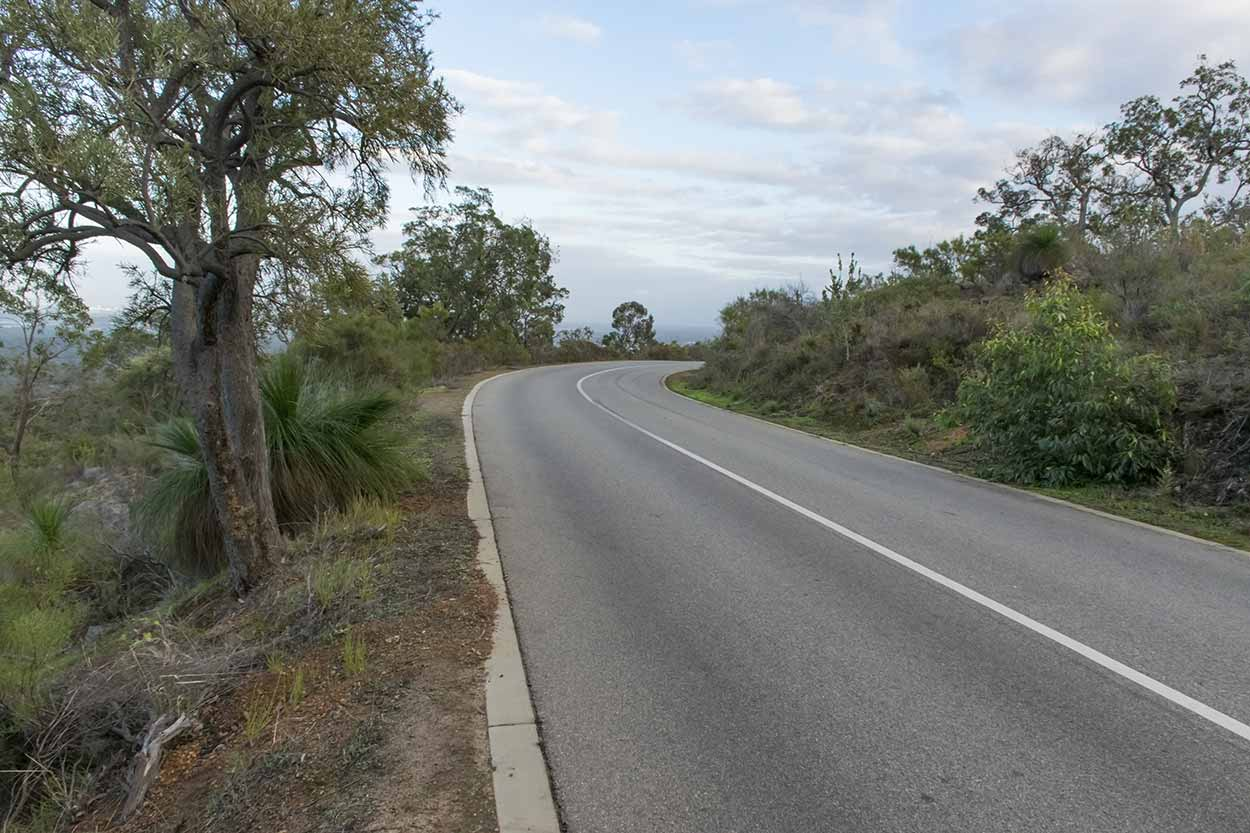 Walking along Lascelles Parade, Gooseberry Hill, Perth, Western Australia
