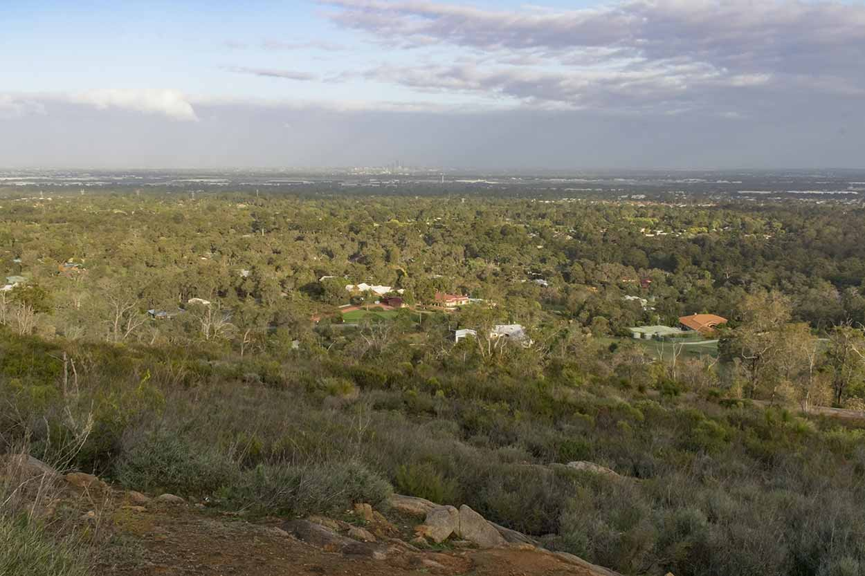 Sunrise from the lookout on Lascelles Parade, Gooseberry Hill, Perth, Western Australia