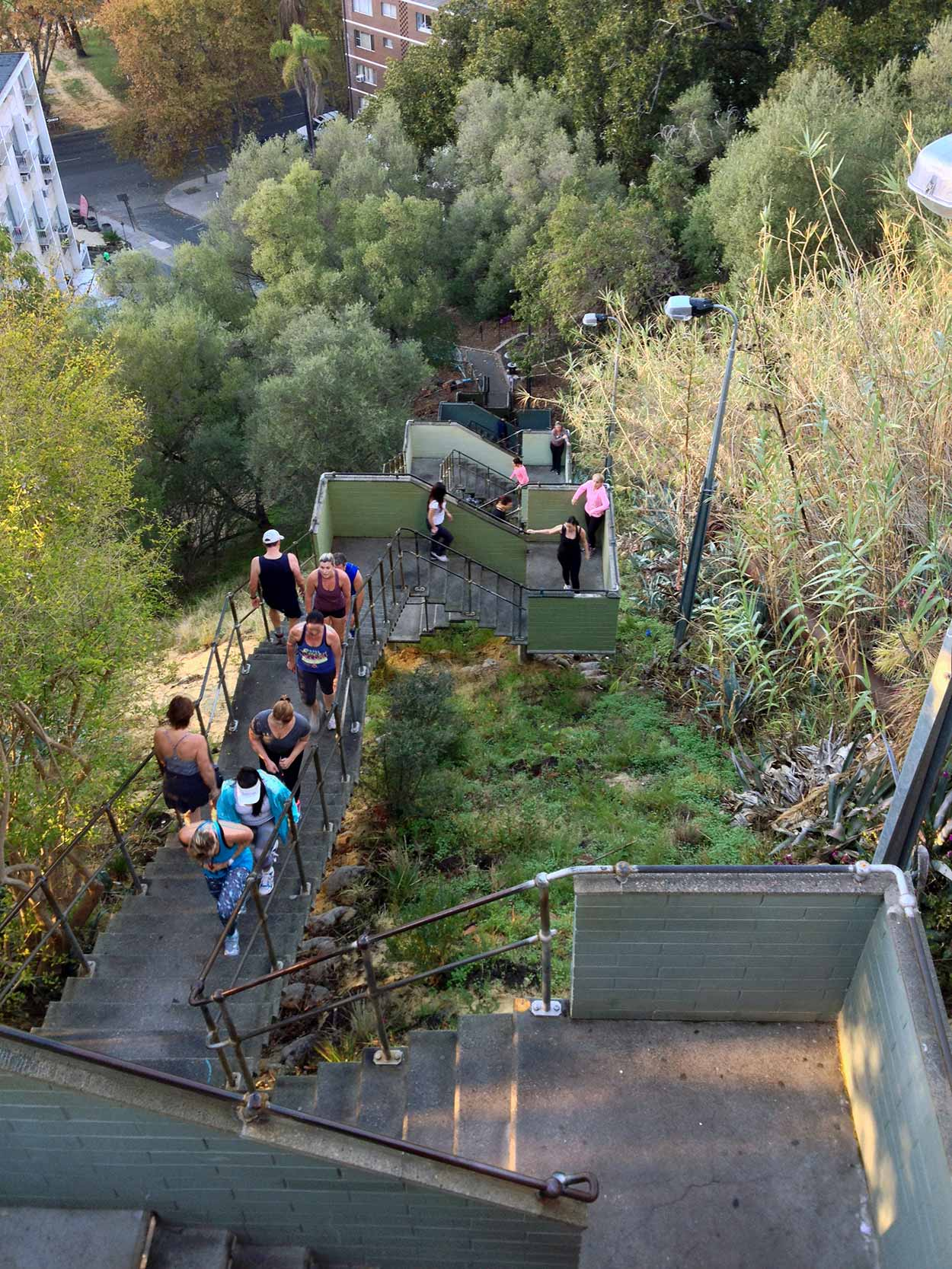 Looking down Jacobs Ladder, Perth, Western Australia