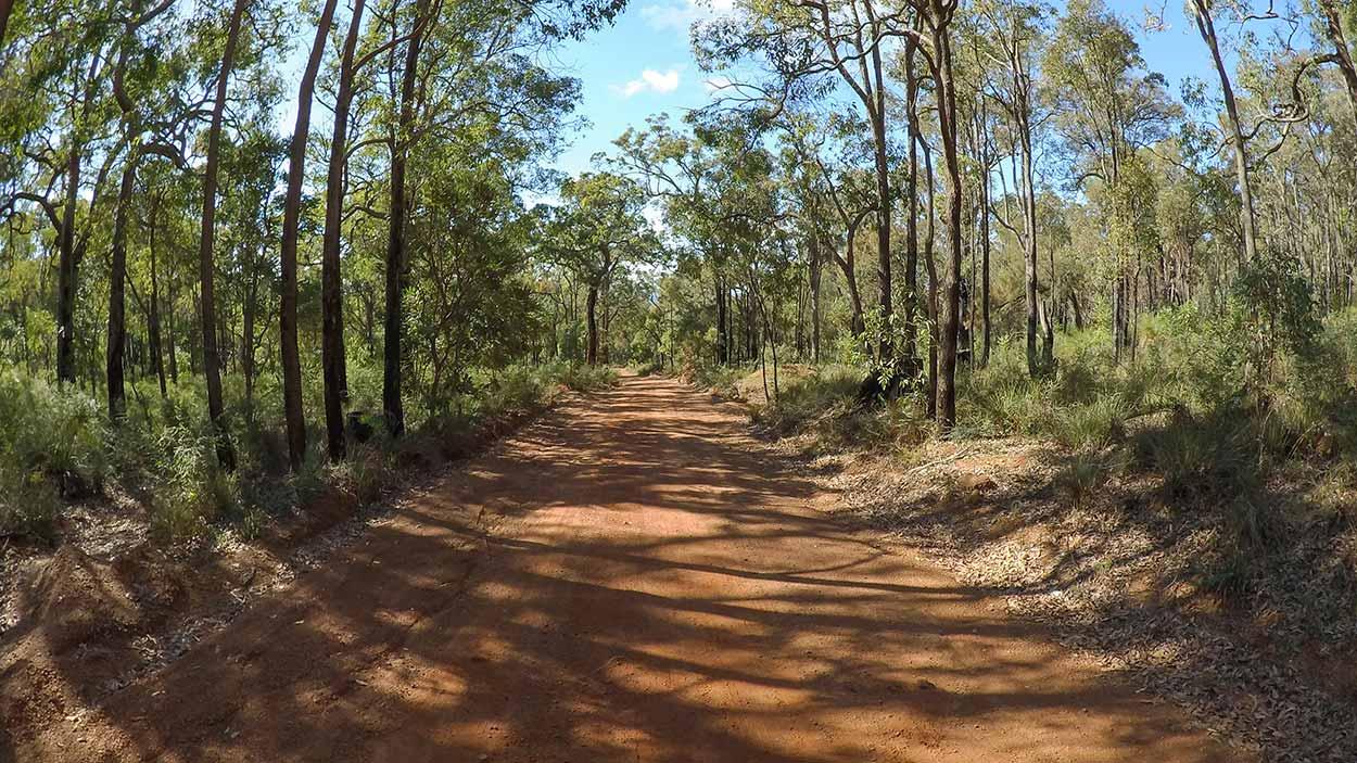 Gunjin Road section of the Kattamordo Heritage Trail, Perth, Western Australia