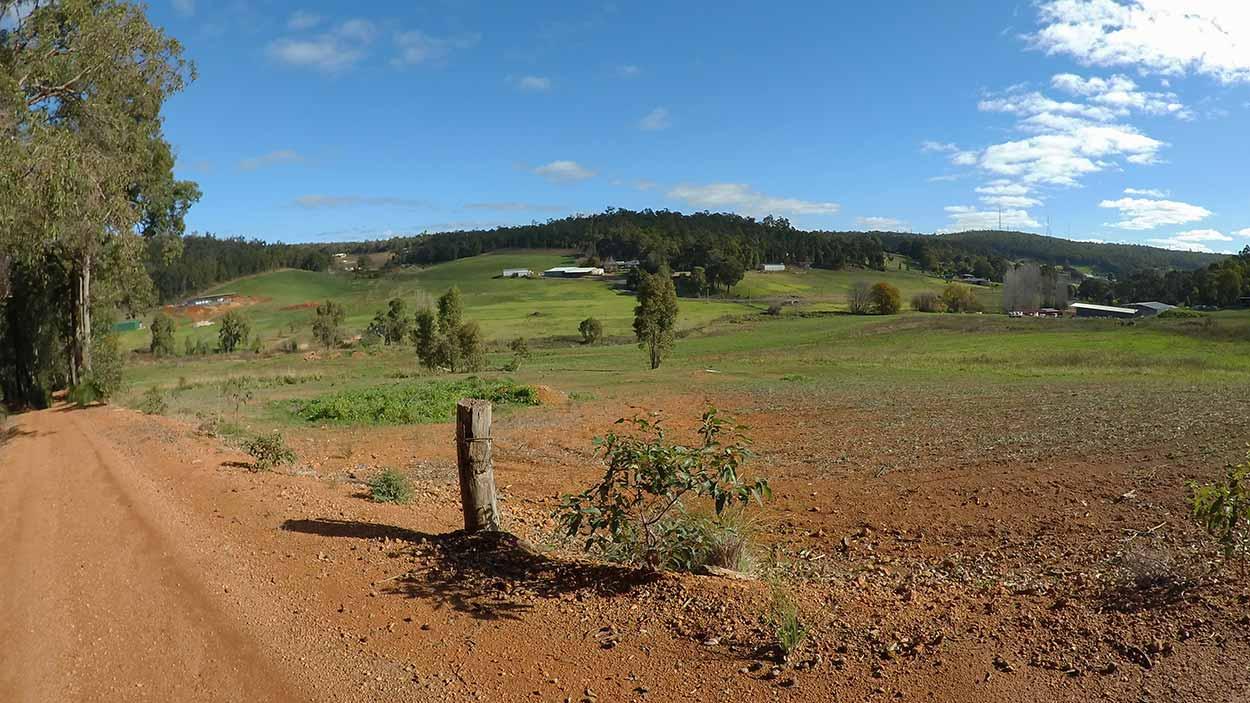 Farmland on the Kattamordo Heritage Trail, Perth, Western Australia