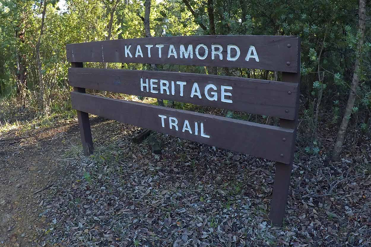 Kattamordo Heritage Trail signage, Mundaring, Perth, Western Australia
