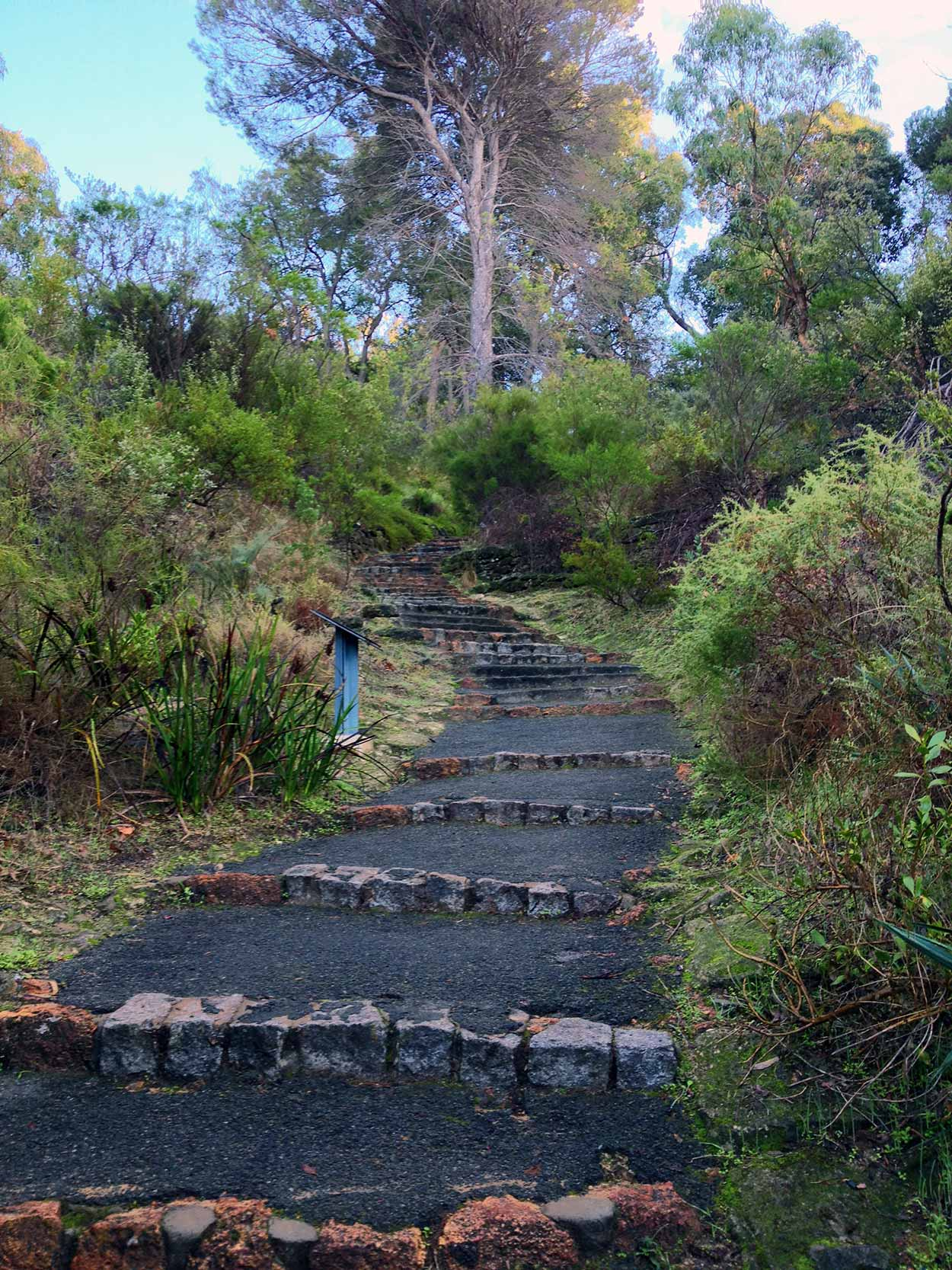 Walking up the Kokoda Track Memorial Walk, Kings Park, Perth, Western Australia
