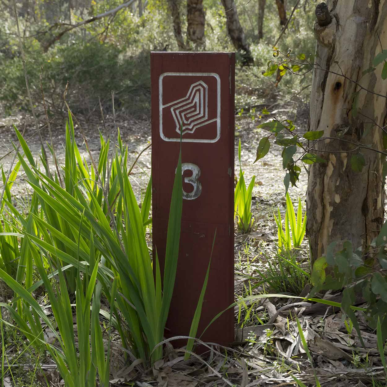 Signage for the Kattamorda Trail, Korung National Park, Perth, Western Australia