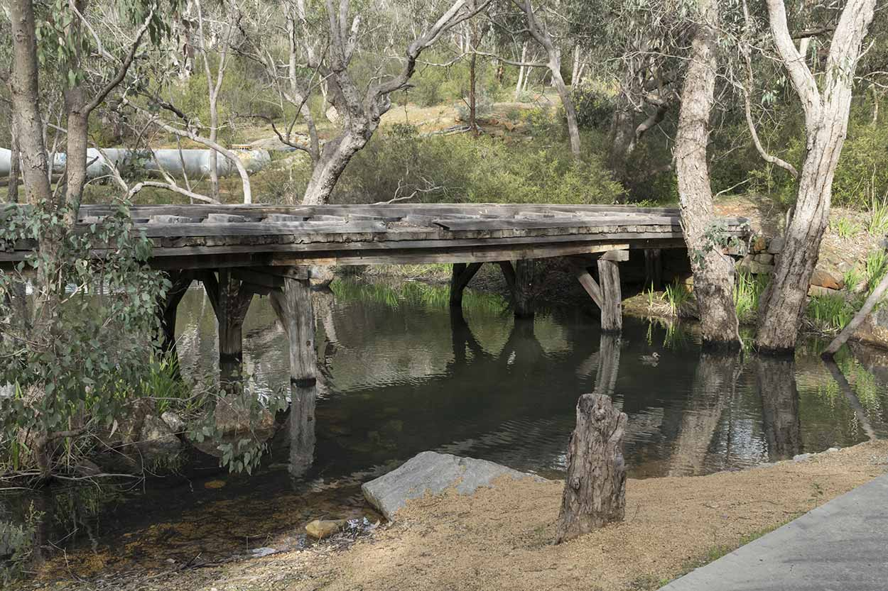 An old tramway bridge over Mundy Brook, Korung National Park, Perth, Western Australia