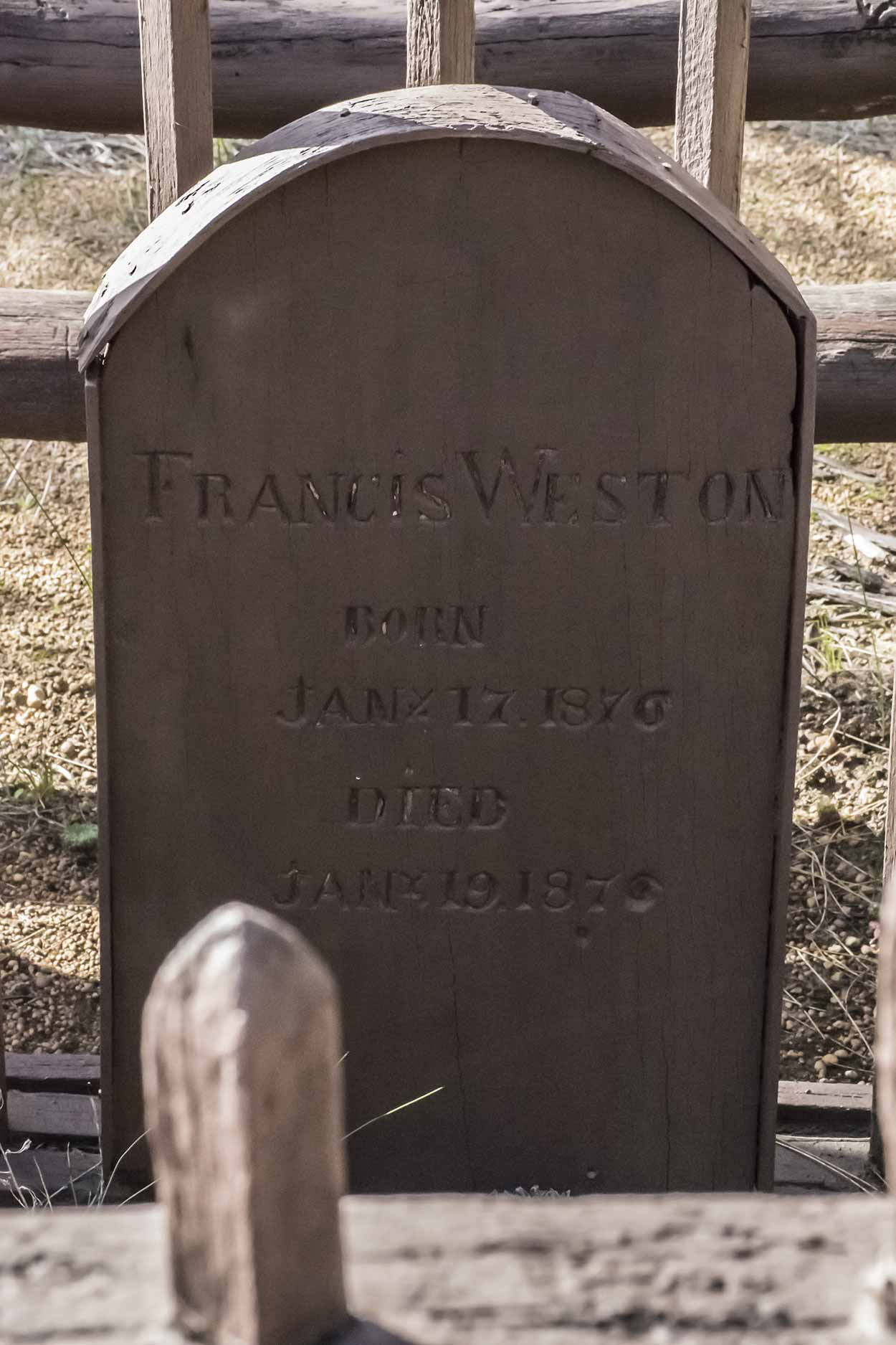 The heritage listed gravesite of Francis Weston, Korung National Park, Perth, Western Australia
