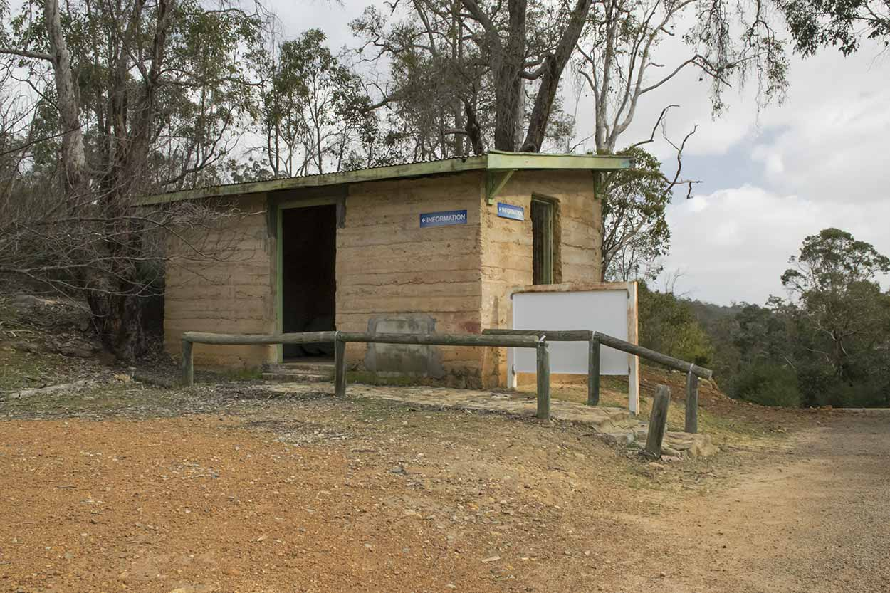 An information building with no information, Korung National Park, Perth, Western Australia