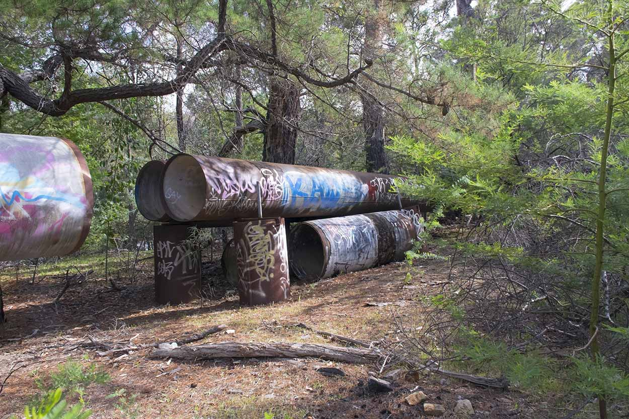 Old water pipeline to Mundaring Weir, Mundaring, Perth, Western Australia
