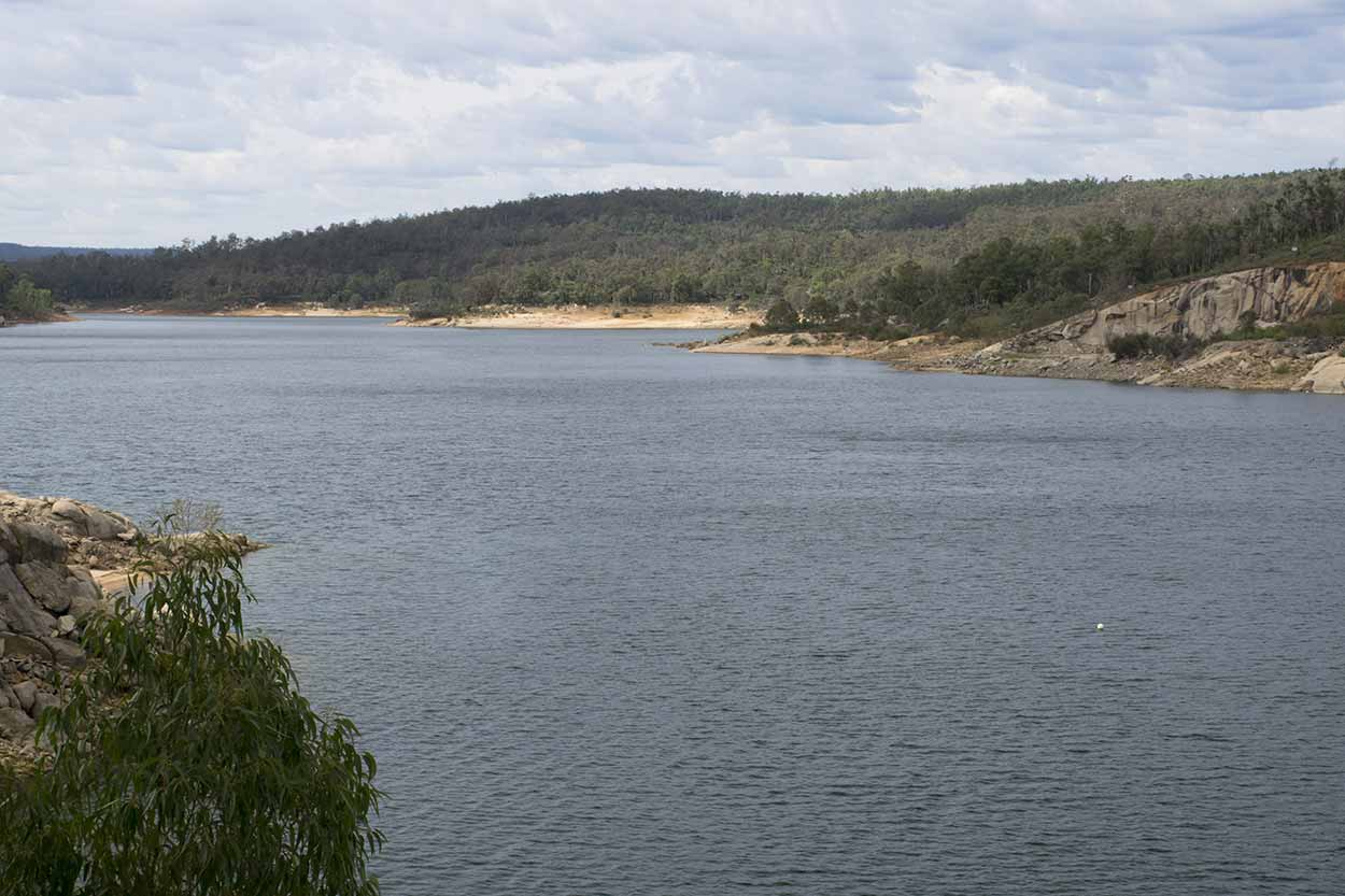 Lake C.Y. O'Connor behind Mundaring Weir, Perth, Western Australia