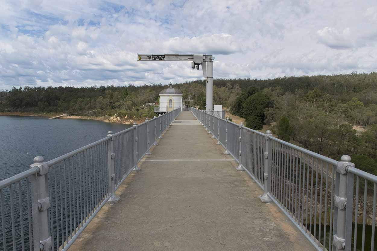 Walking along Mundaring Weir, Perth, Western Australia