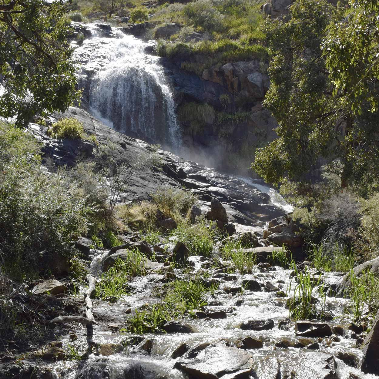 Lesmurdie Falls and Lesmurdie Brook, Mundy Regional Park, Perth, Western Australia