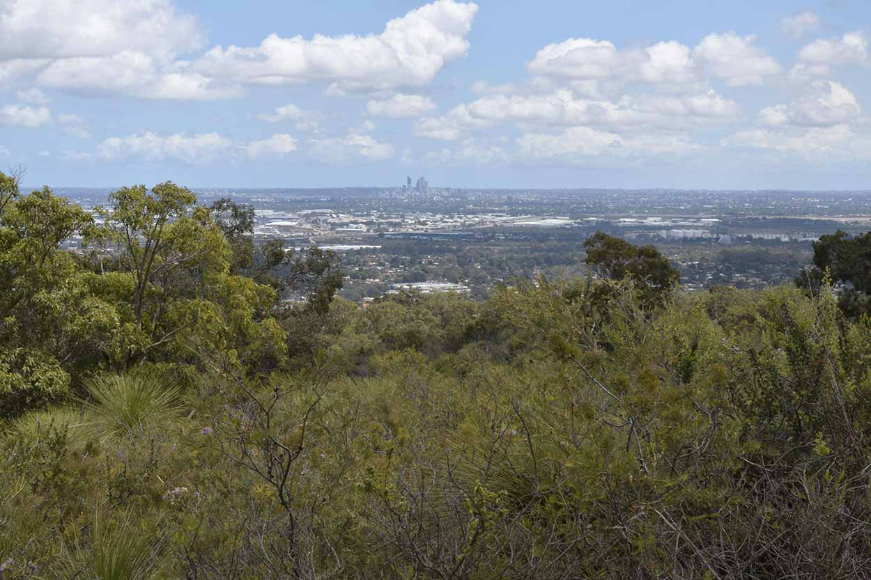 Panoramic views over the Swan Coastal Plain, Mundy Regional Park, Perth, Western Australia