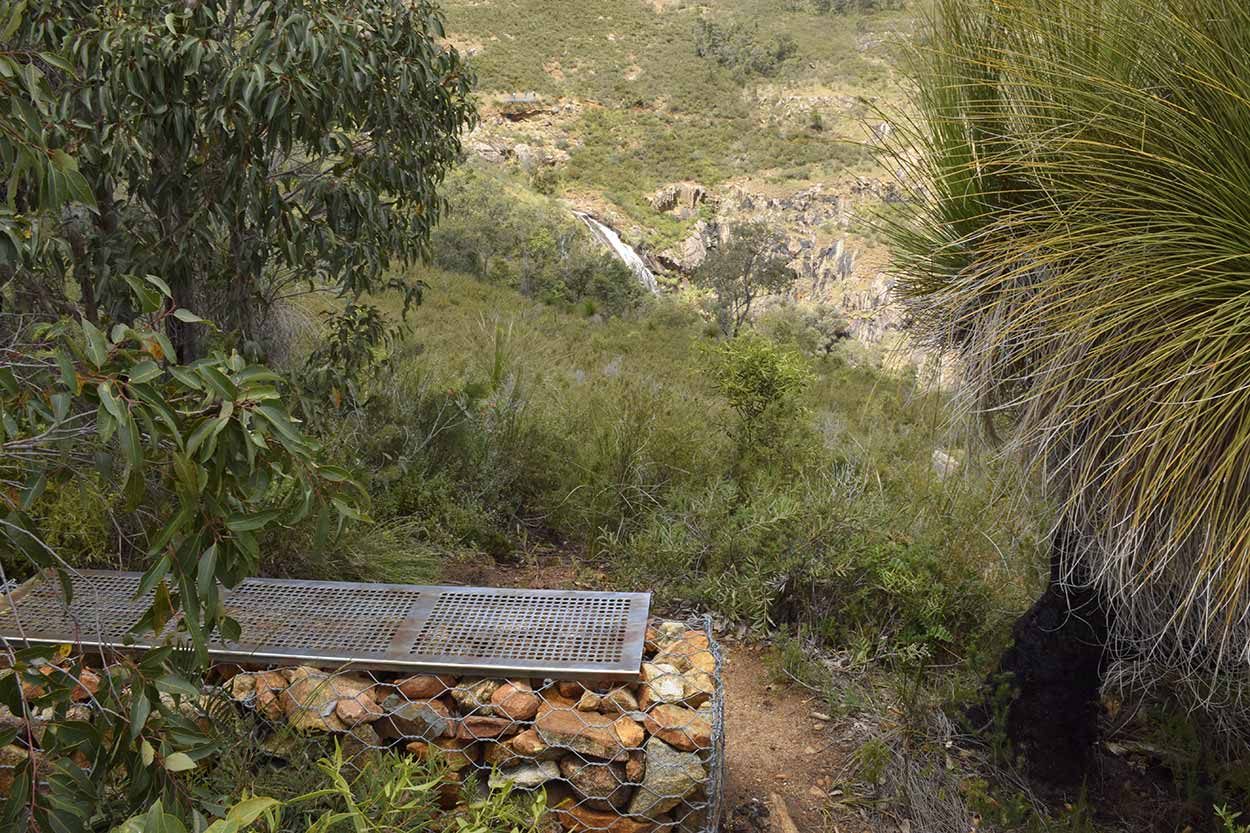 A seat with a view at the Shoulder Lookout, Mundy Regional Park, Perth, Western Australia