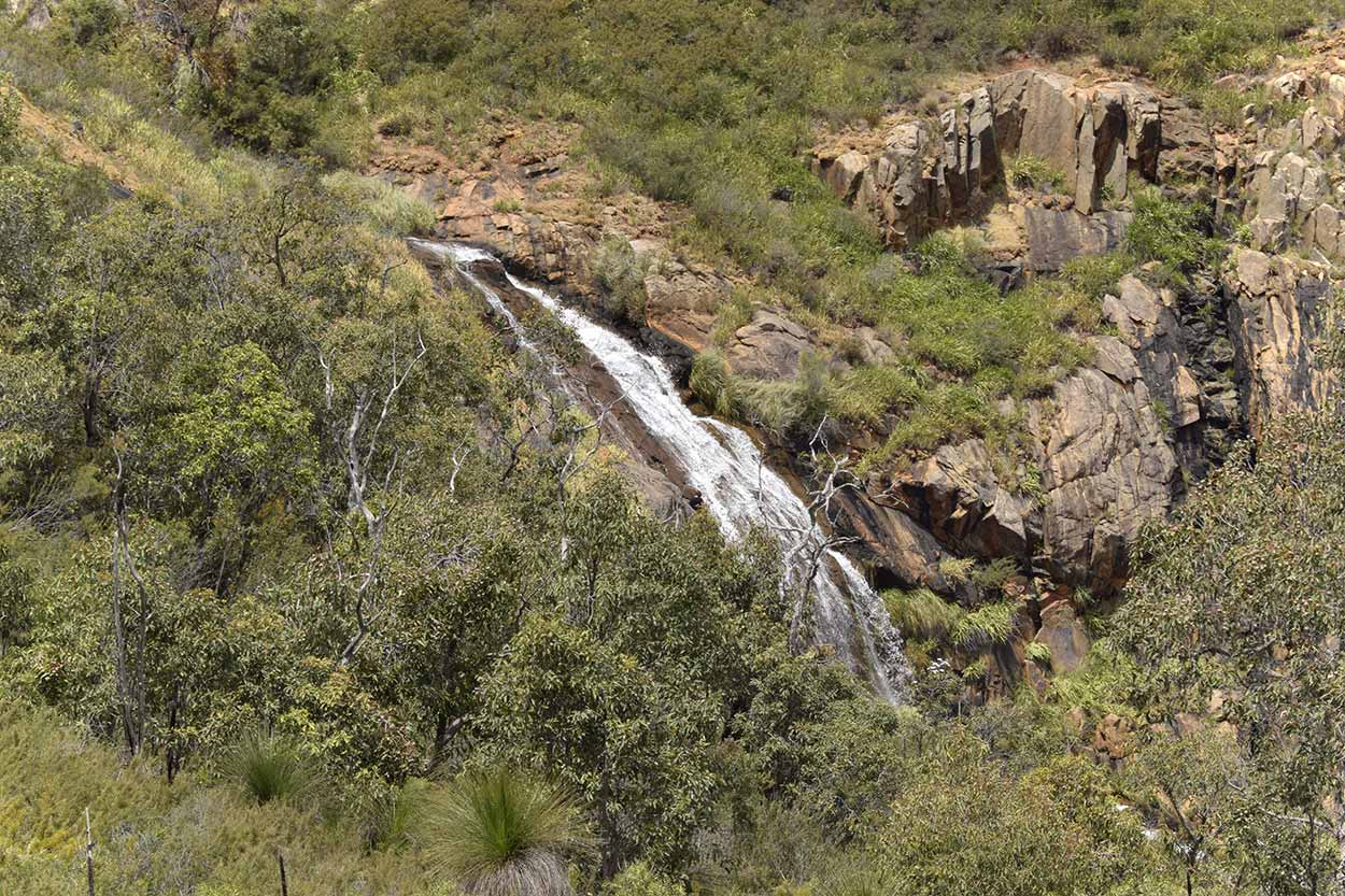 The view of Lesmurdie Falls from the Shoulder Lookout, Mundy Regional Park, Perth, Western Australia