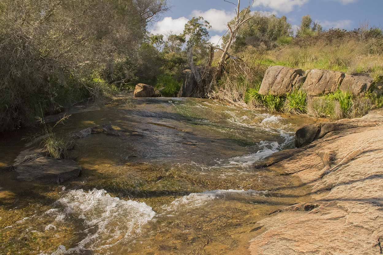 Waterfall on the Whistlepipe Gully Walk, Mundy Regional Park, Perth, Western Australia