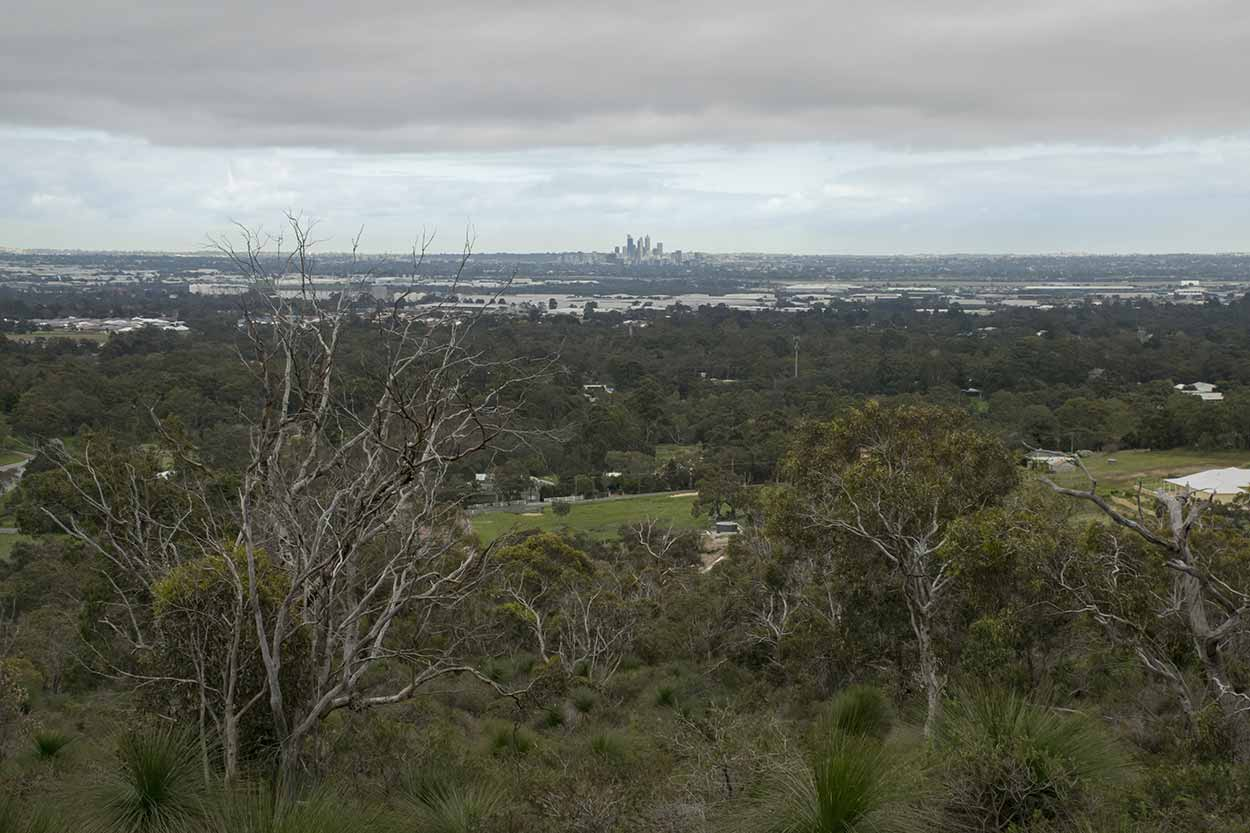 Views over the Swan Coastal Plain from the West Terrace Walk, Mundy Regional Park, Perth, Western Australia