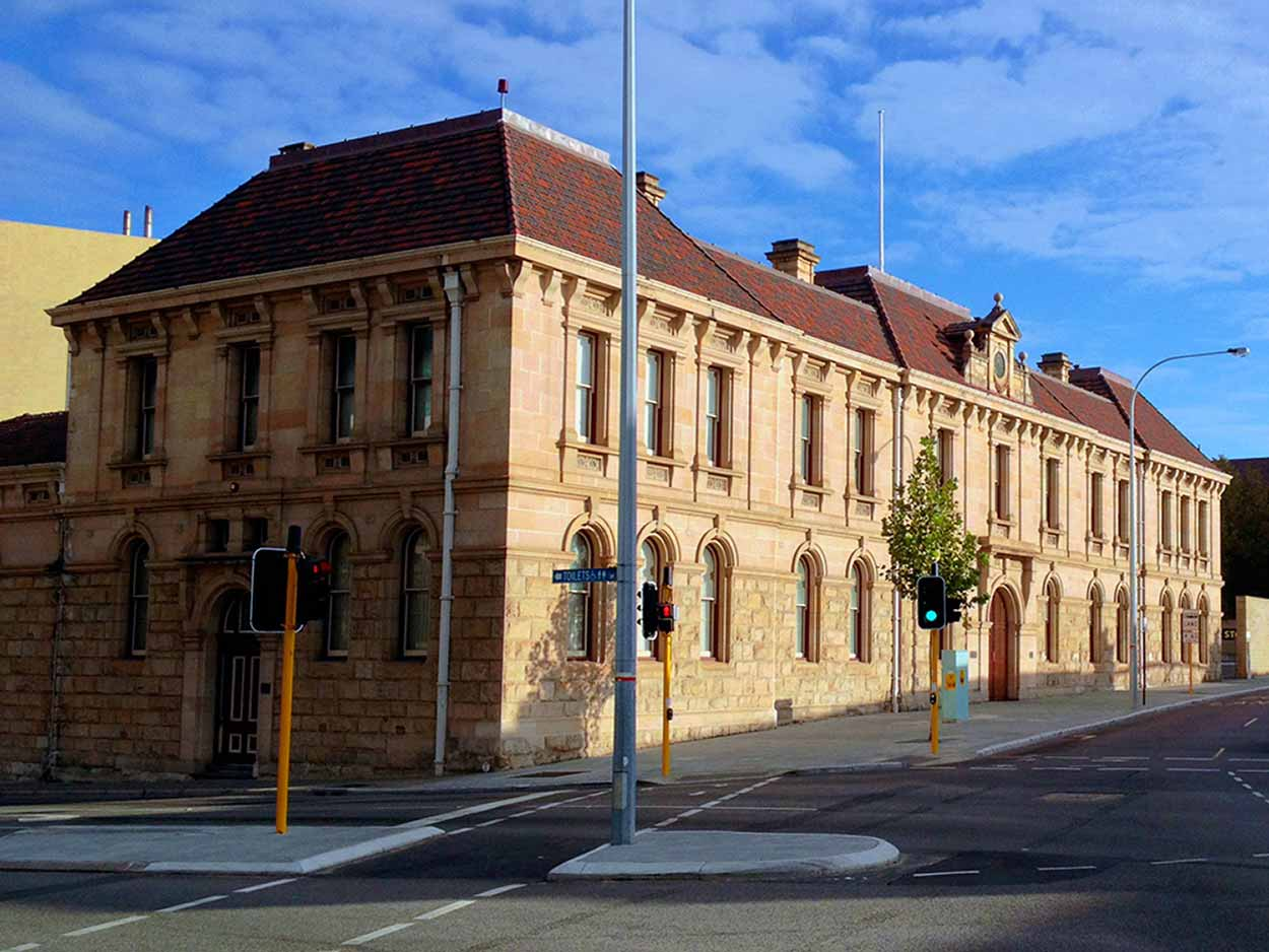 The former Perth Police Court building and now the Centenary Galleries of the Art Gallery of Western Australia, Perth, Western Australia