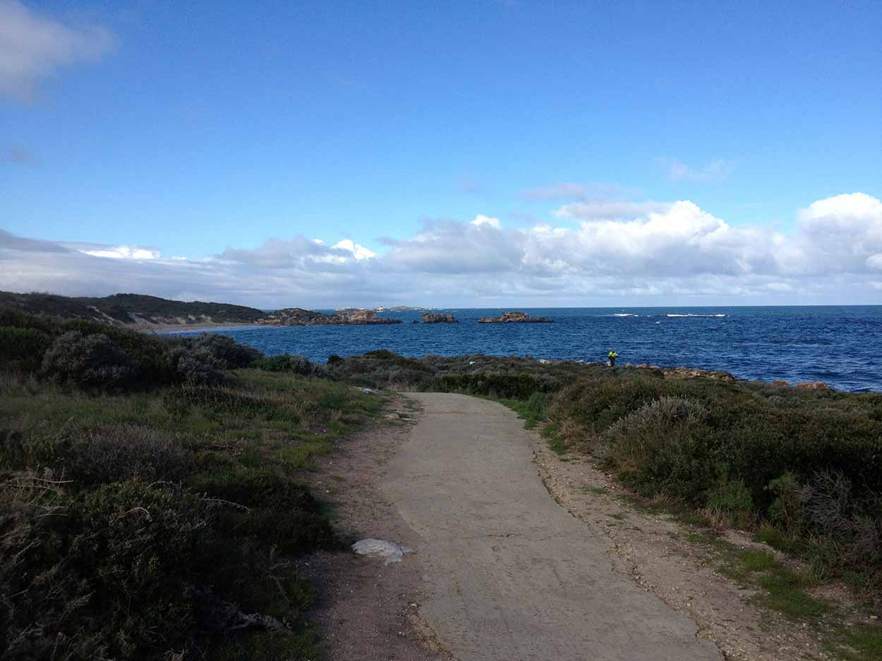 A path in Point Peron providing spectacular views over the Indian Ocean, Perth, Western Australia