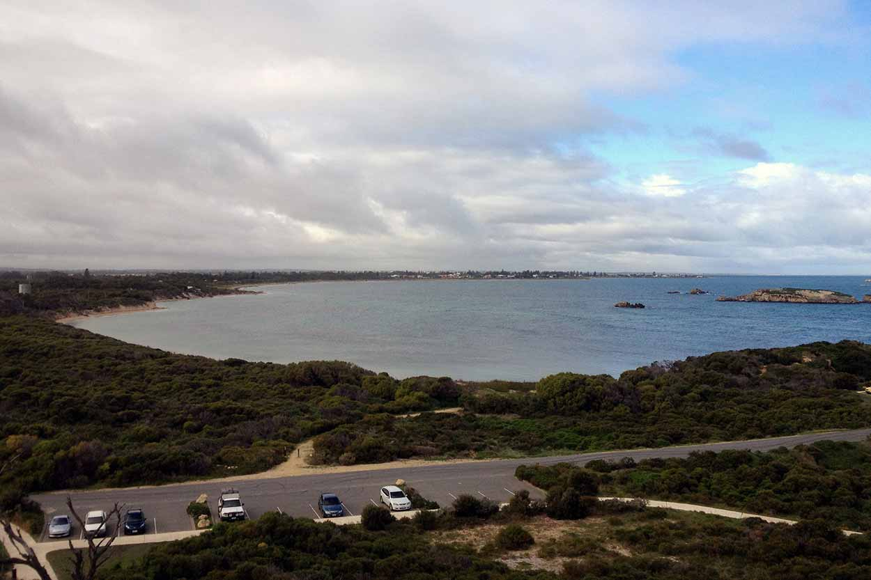 Looking over Shoalwater Bay from the summit of Point Peron, Perth, Western Australia