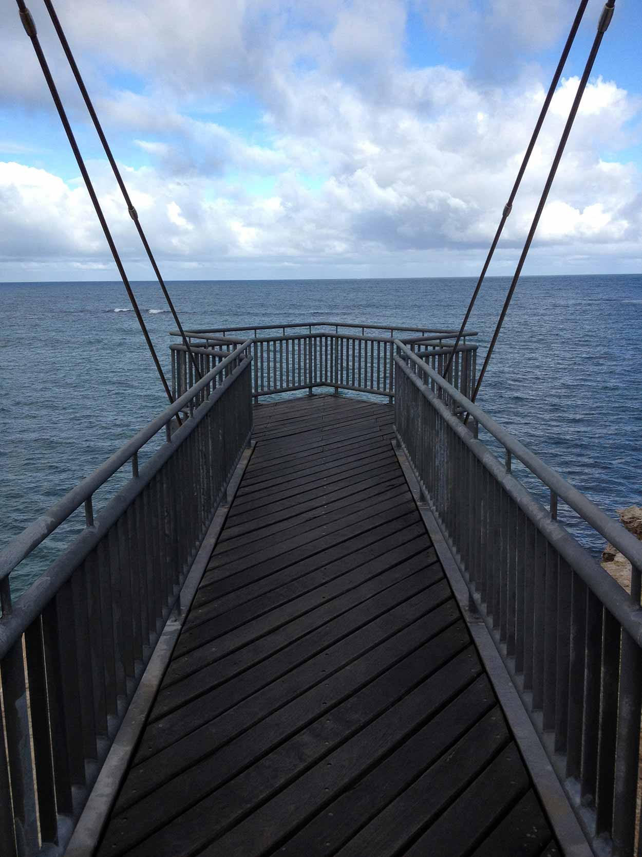Cantilevered lookout on the western side of Point Peron, Perth, Western Australia