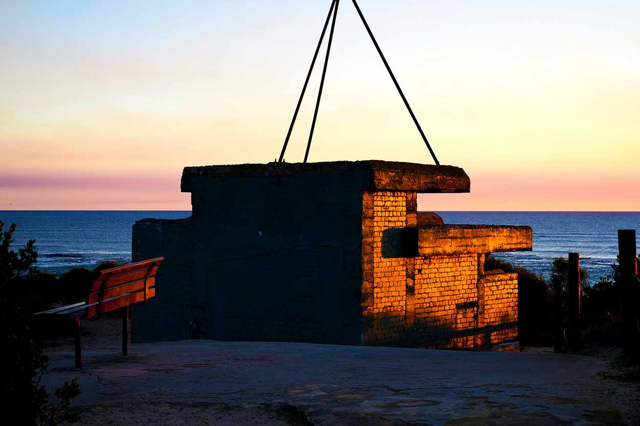 The WWII Observation Post at the summit of Point Peron, Rockingham, Perth, Western Australia