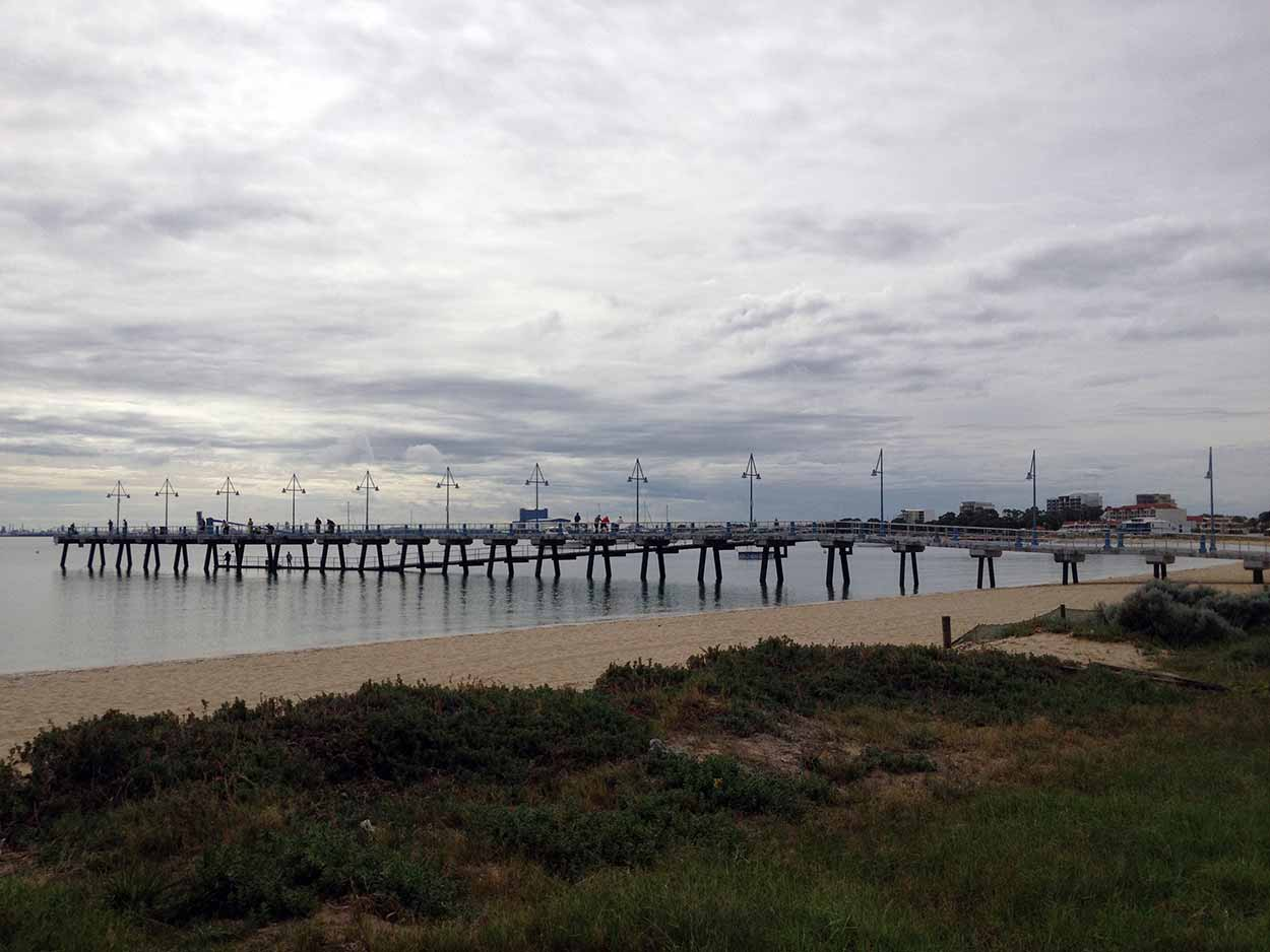 Palm Beach Jetty is a popular spot for fishing, but also good for a stroll, Rockingham, Perth, Western Australia