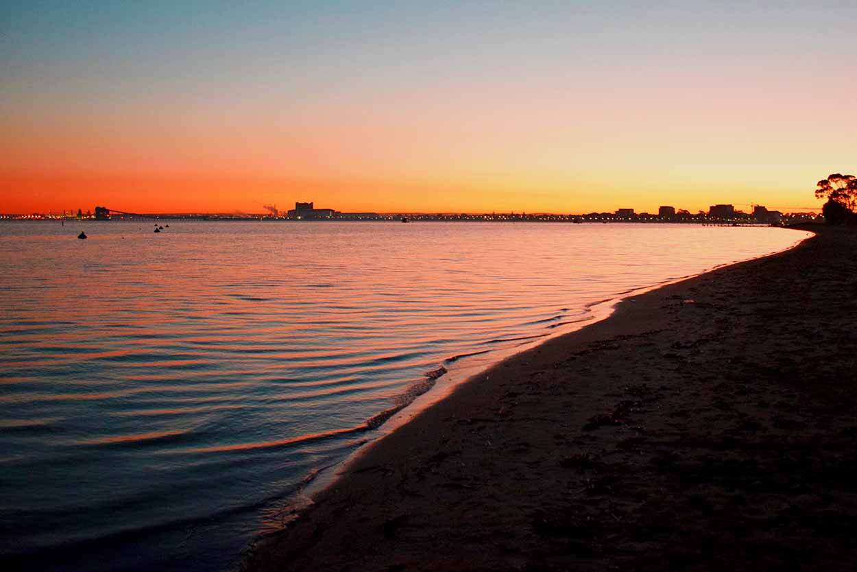 Sunrise over Cockburn Sound, Rockingham, Perth, Western Australia