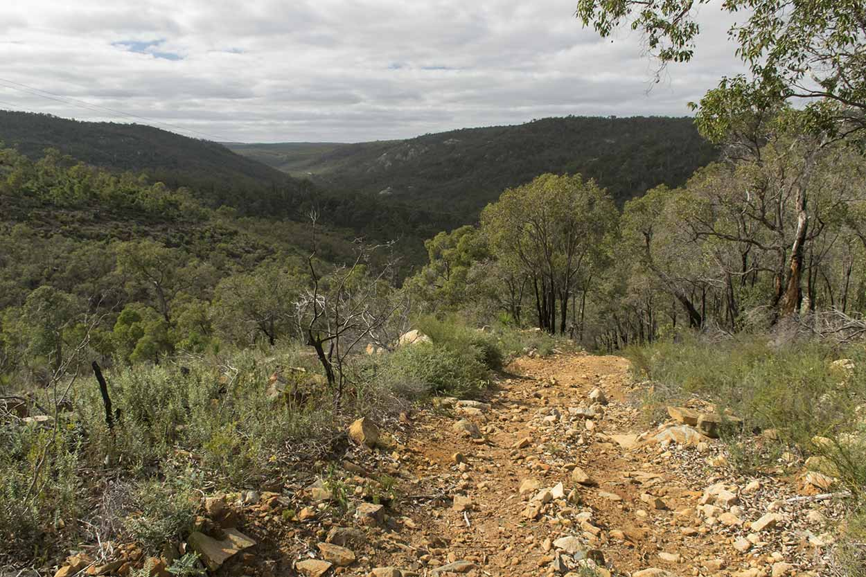 Views over the Helena River Valley from the Rocky Pool Walk, Kalamunda National Park, Perth, Western Australia