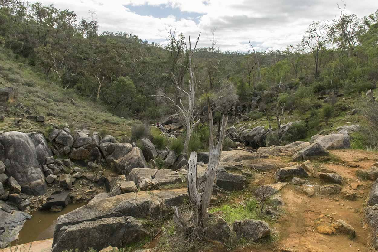 A dry Rocky Pool, Kalamunda National Park, Perth, Western Australia