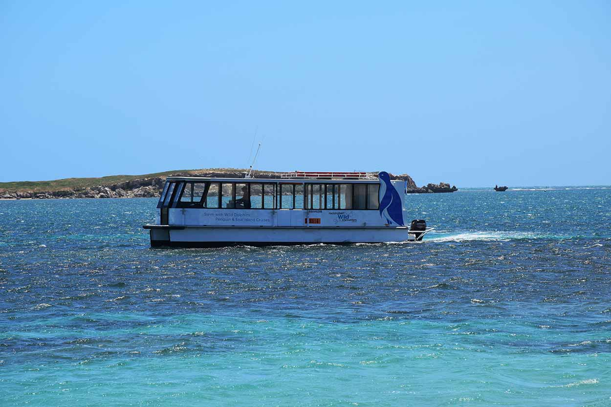 Boat to Penguin Island from Mersey Point, Shoalwater, Perth, Western Australia