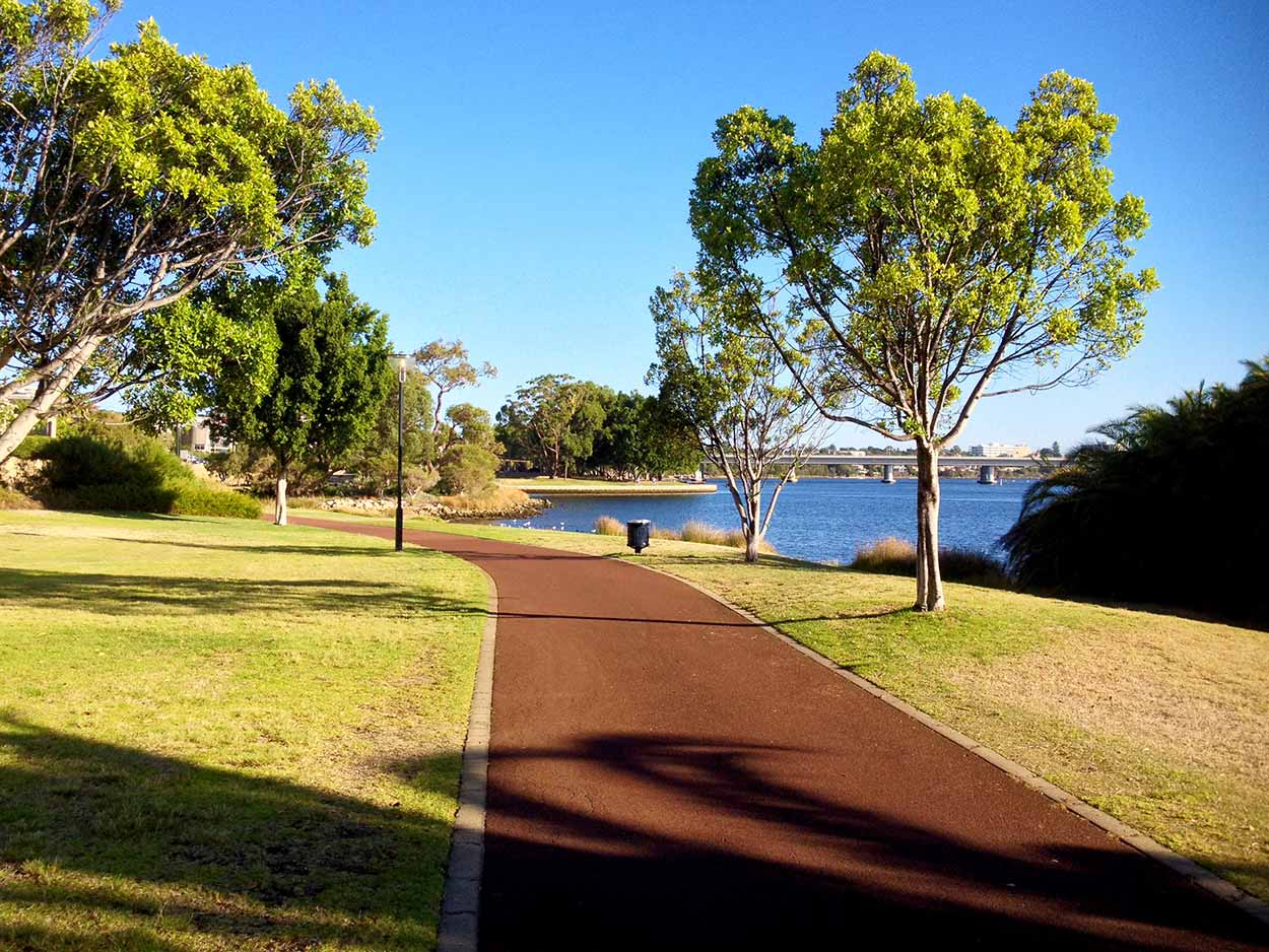 Arden St Reserve next to the Swan River, Perth, Western Australia