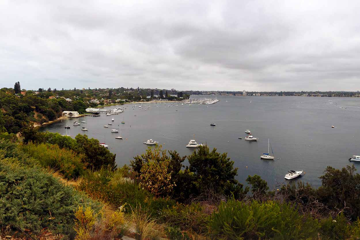 As the name suggests, Bay View Park is a park with views of a bay, Swan River, Perth, Western Australia
