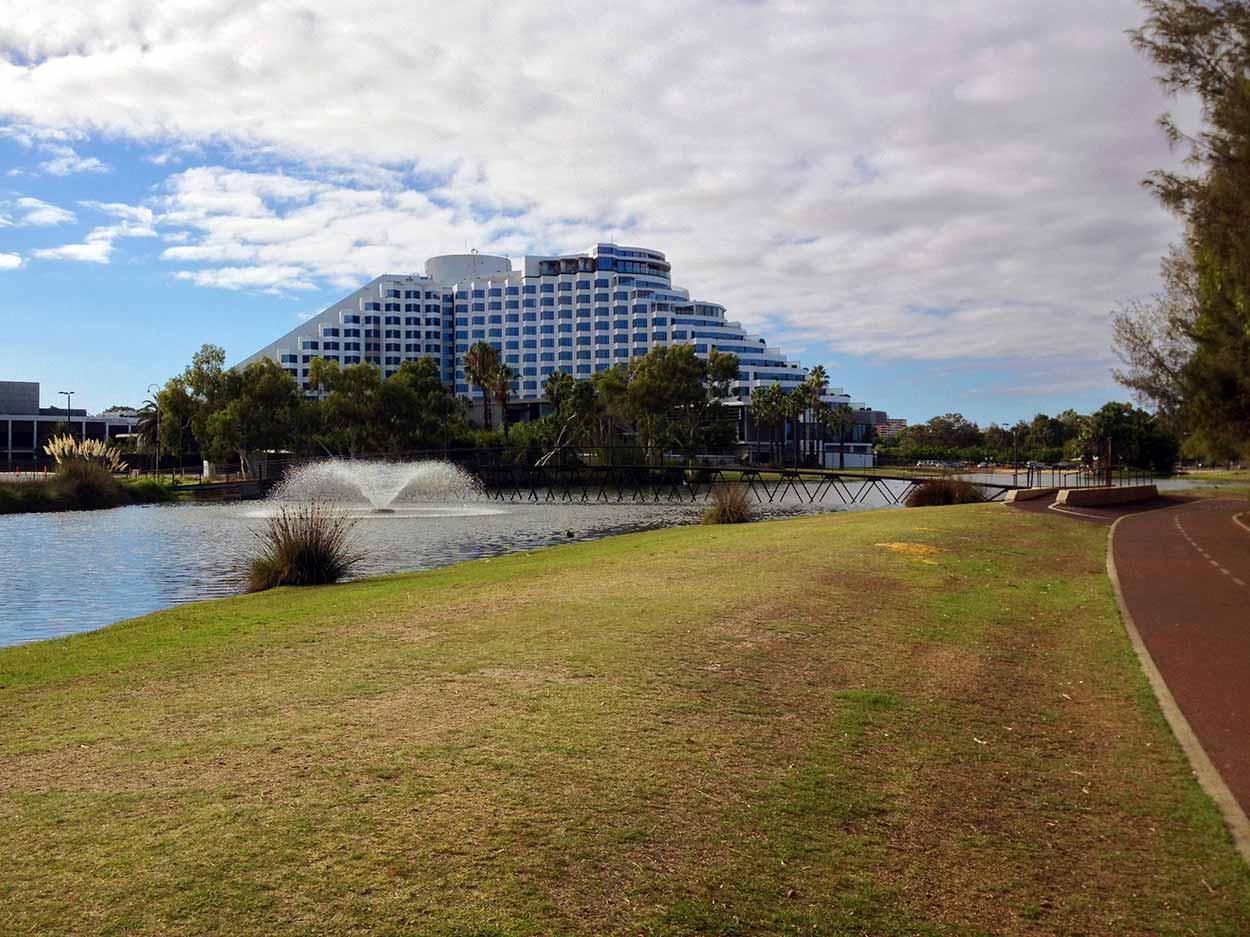 The Crown Perth entertainment precinct, Burswood, Perth, Western Australia