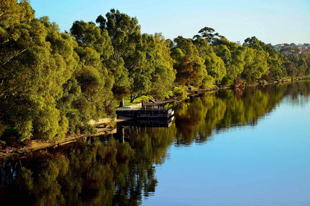 Crossing the Swan River at Windan Bridge, Swan River, Perth, Western Australia