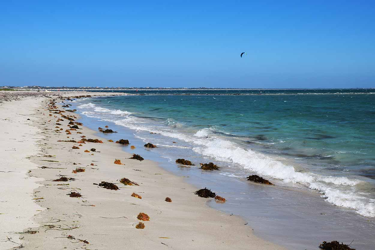 Beach off The Pond into Warnbro Sound, Rockingham, Perth, Western Australia