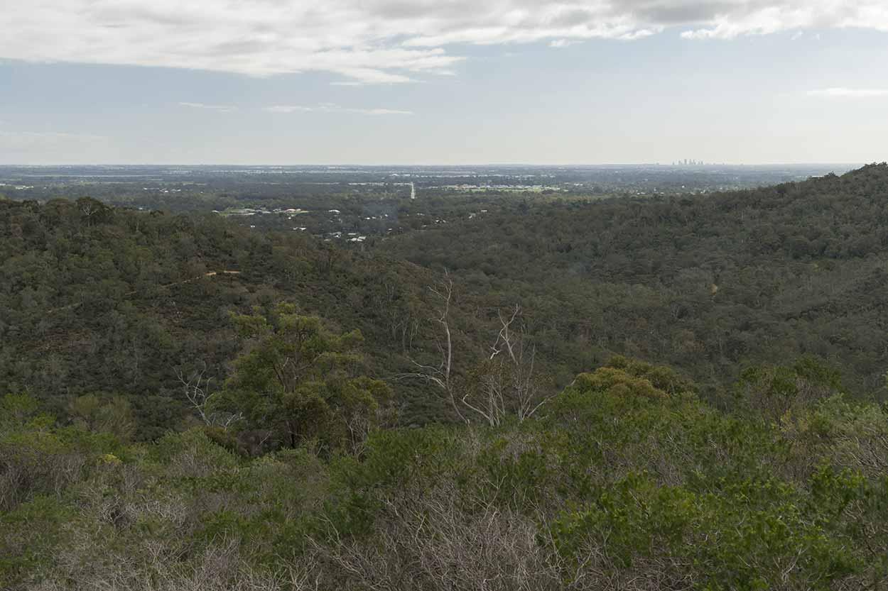 Views over the Swan Coastal Plain, Wungong Regional Park, Perth, Western Australia