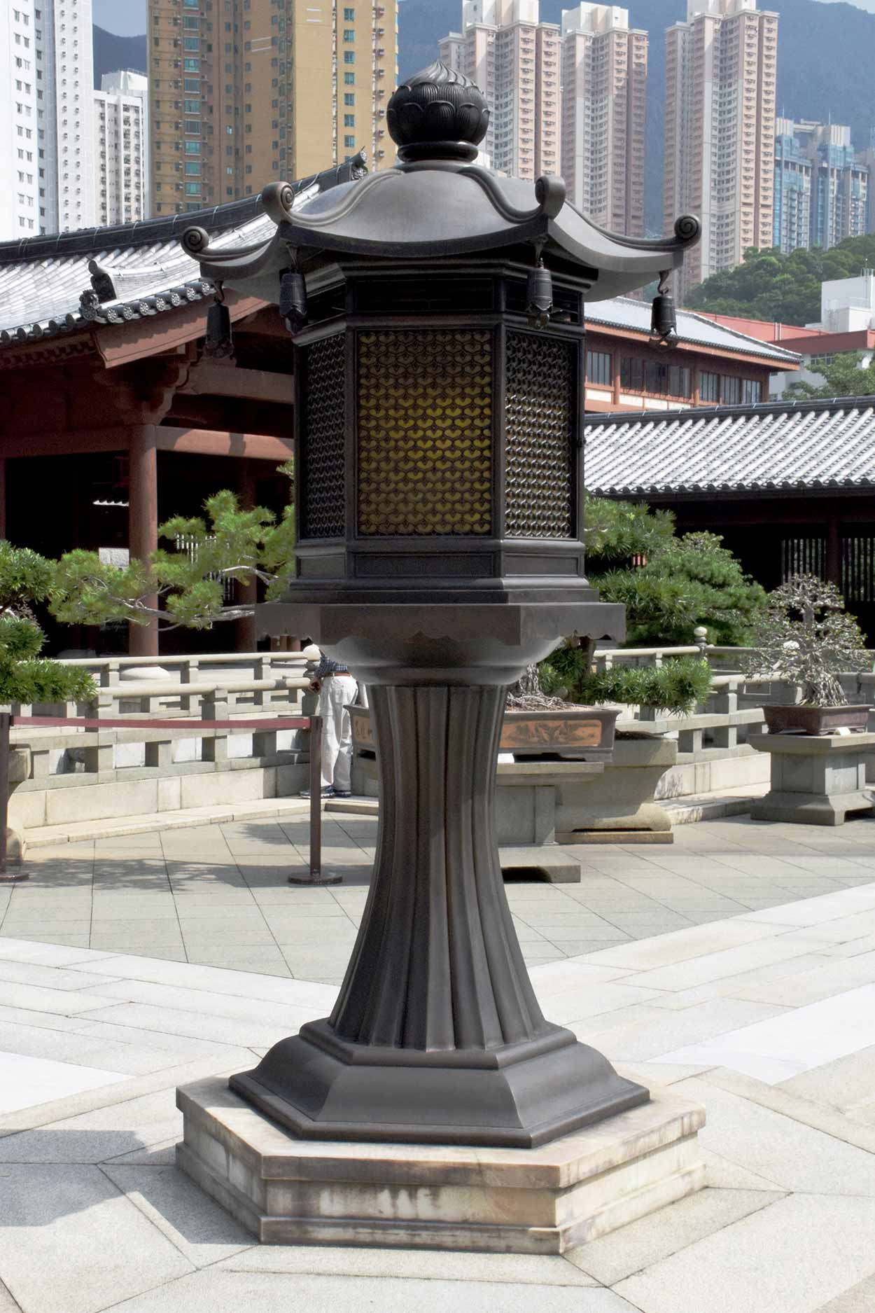 Lantern in the Lotus Pond Garden, Chi Lin Nunnery, Hong Kong, China