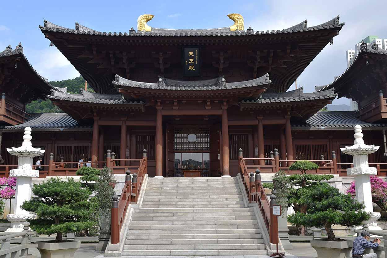 The Hall of Celestial Kings, Chi Lin Nunnery, Hong Kong, China
