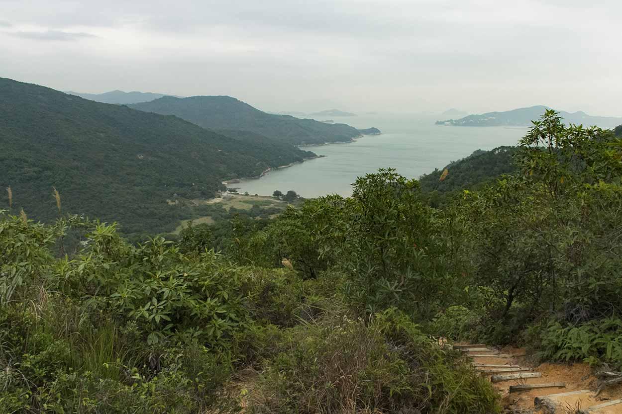 Views over Chi Ma Wan, Chi Ma Wan Country Trail, Lantau Island, Hong Kong, China